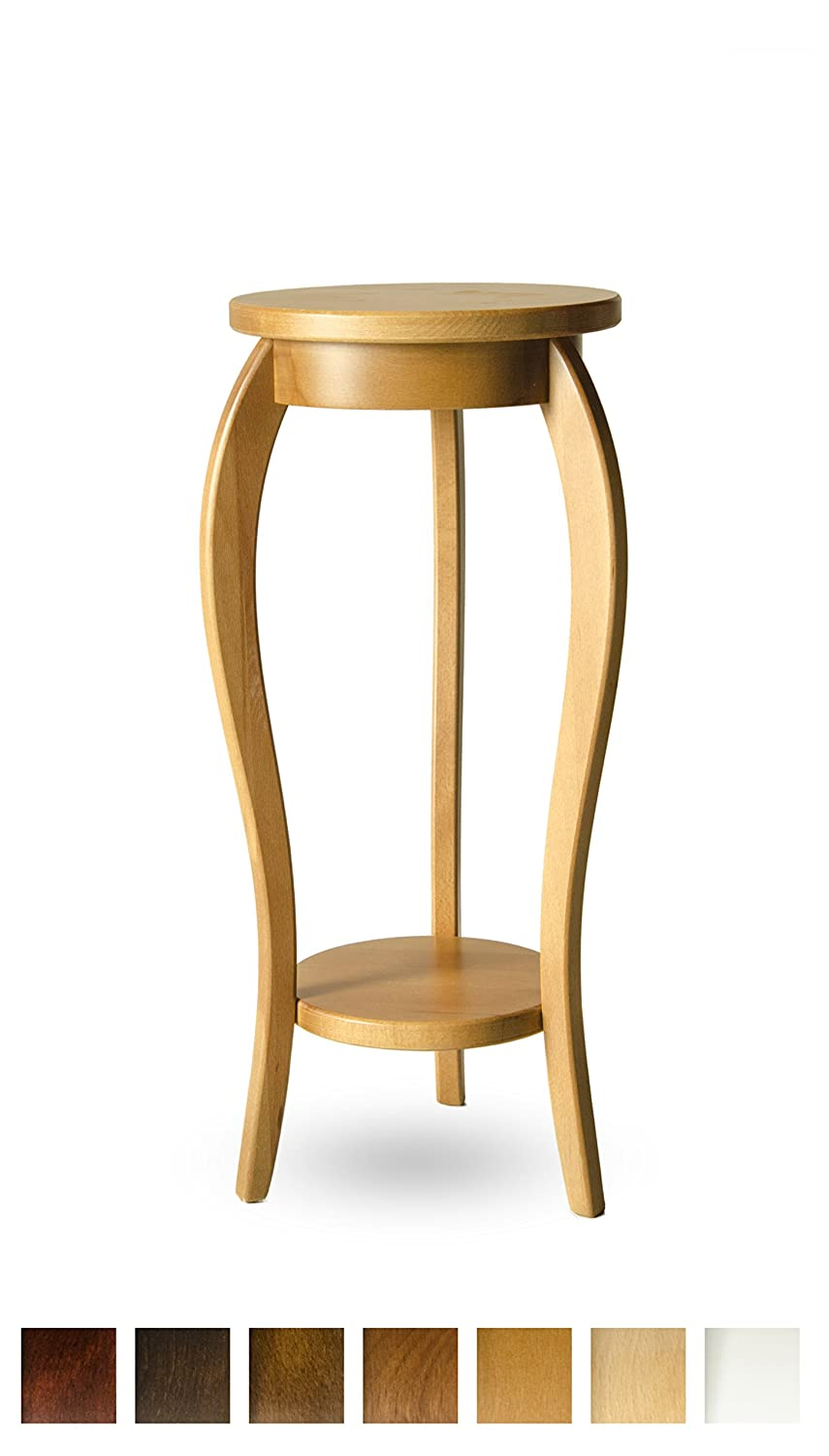 Solid Beech Wood Side Table Flower Table Stand 7 Colours - 28x60 - WHITE Mirrors's spol. s r.o.