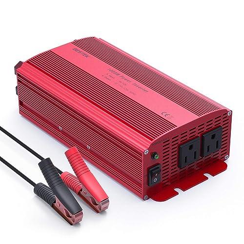 BESTEK Car Power Inverter DC 12V to AC 110V Adapter 1000W