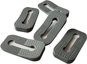 Vadiff Silicone Gas Stove Child Safety Knob Locks | Oven Knob Guard (5 Pk)(Gray)