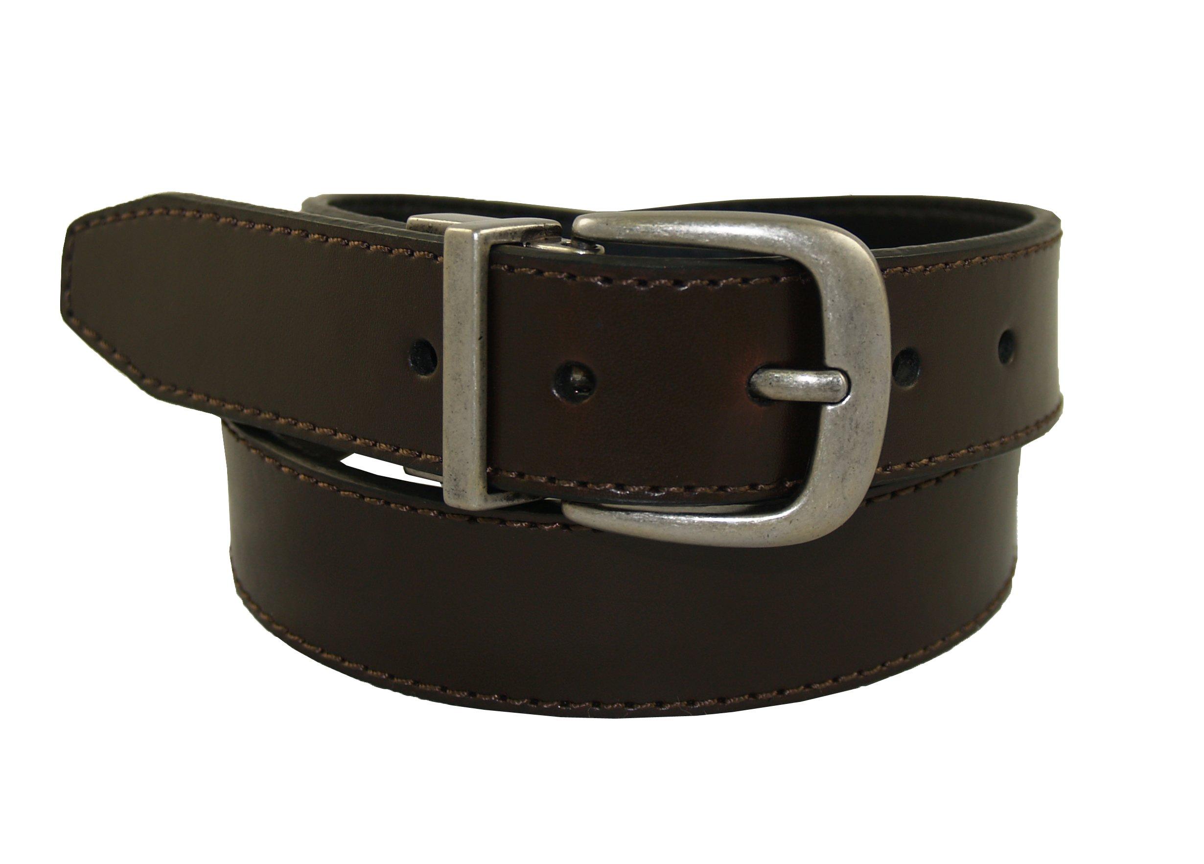 Levi's Men's Reversible Belt With Eagle Logo Buckle,Brown/Black, Medium