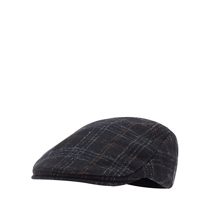 6faa9a44825 Hammond   Co. by Patrick Grant Men Navy Windowpane Check Flat Cap S M   Hammond   Co. by Patrick Grant  Amazon.co.uk  Clothing