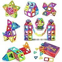 AUGYMER Bloques Magneticos de Construccion Juguetes Didacticos 3D 60 Unids Educación Magnética Ladrillos de Construcción Azulejos Construcción Magnética Juguetes de Apilamiento para Niños Niños Inteligencia para Juguetes Regalos de Navidad para Niños