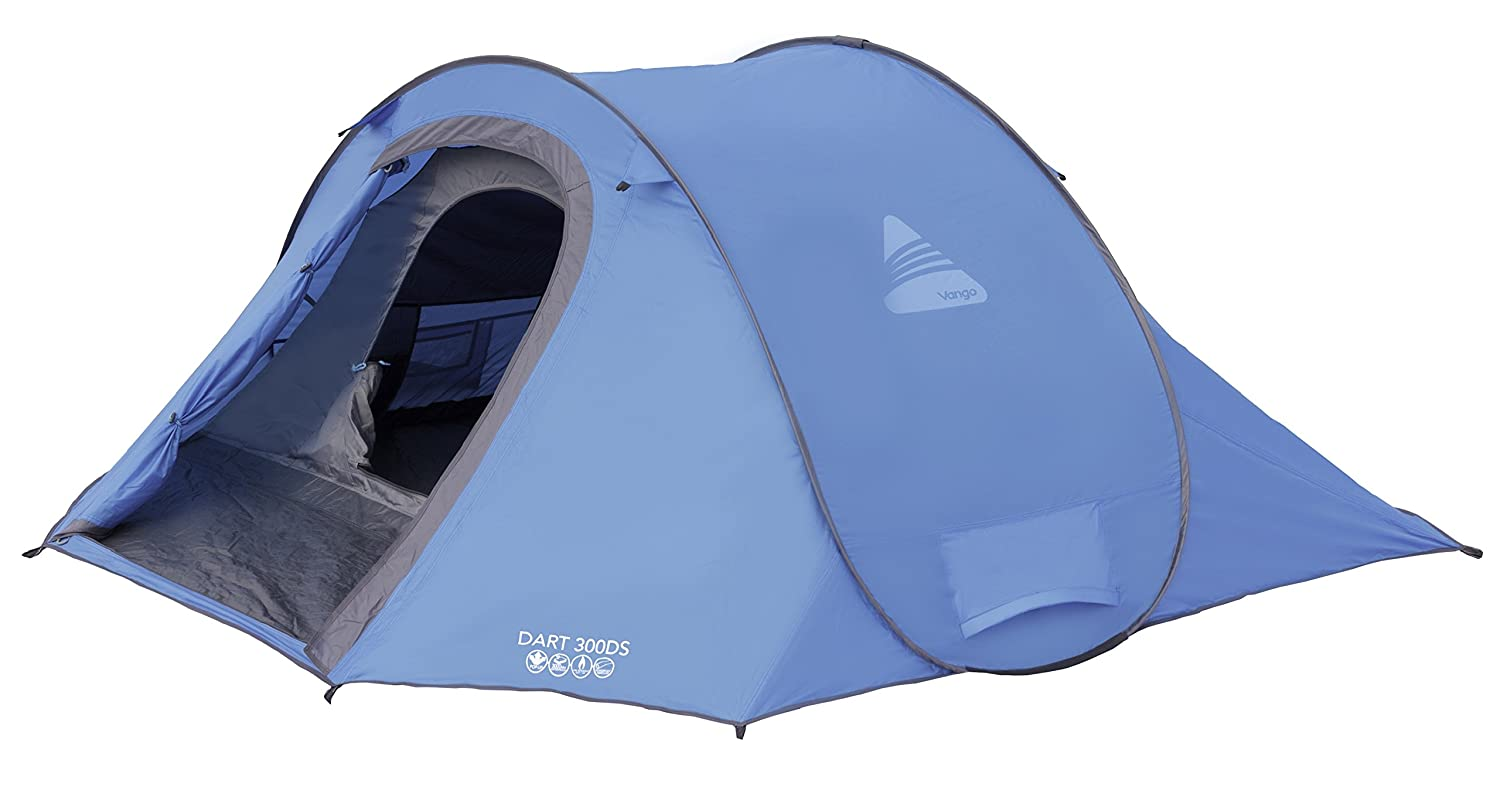 Vango Waterproof Dart Unisex Outdoor Pop-Up Tent available in Blue - 3 Persons Amazon.co.uk Sports u0026 Outdoors  sc 1 st  Amazon UK & Vango Waterproof Dart Unisex Outdoor Pop-Up Tent available in Blue ...