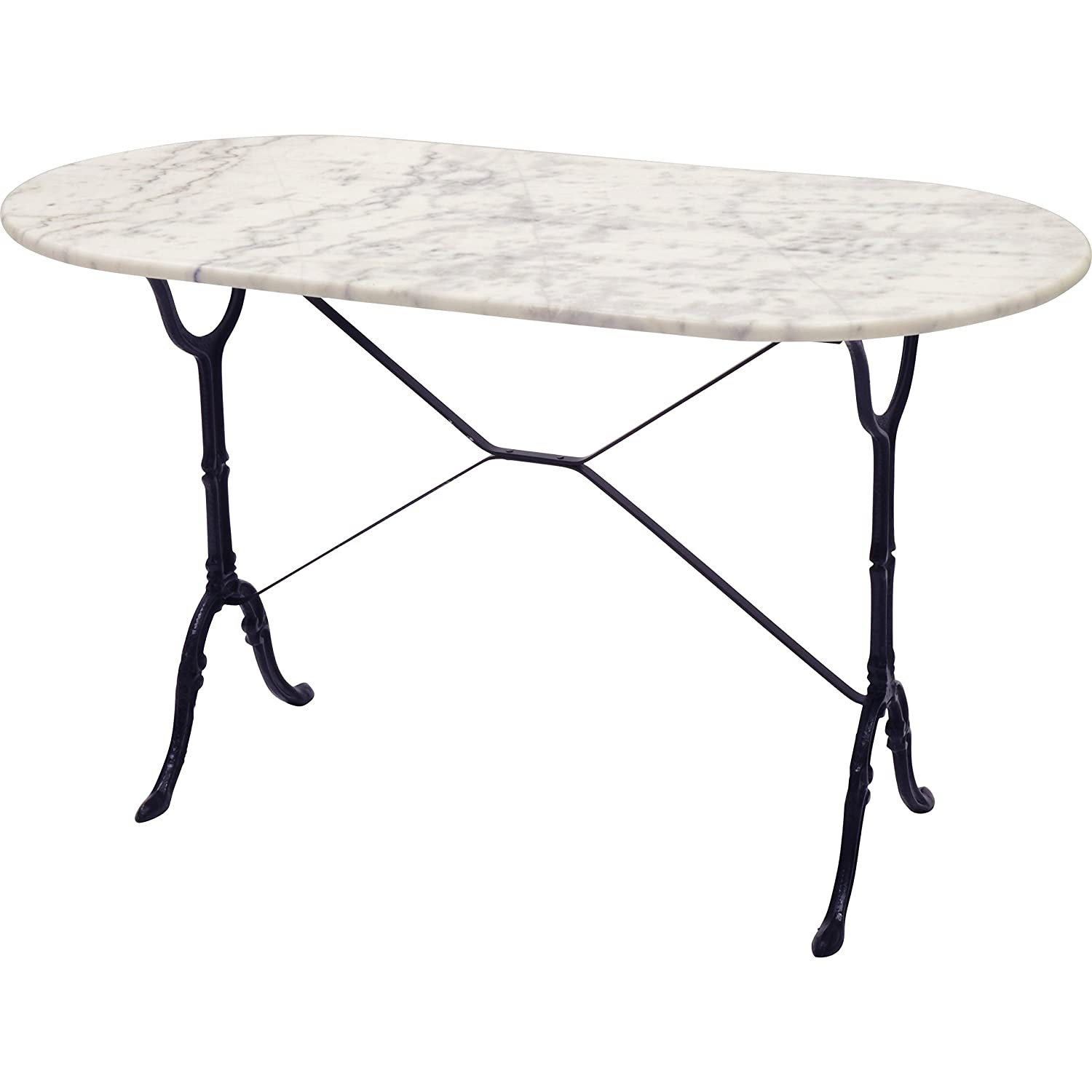 Lesli Table De Marbre Blanc 120 X 60 Cm Ovale Amazon Fr