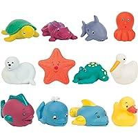 Battat – Bath Buddies Squirters – 12-Pack Little Animal Squirts Fun Bath Toys for Babies 10m+