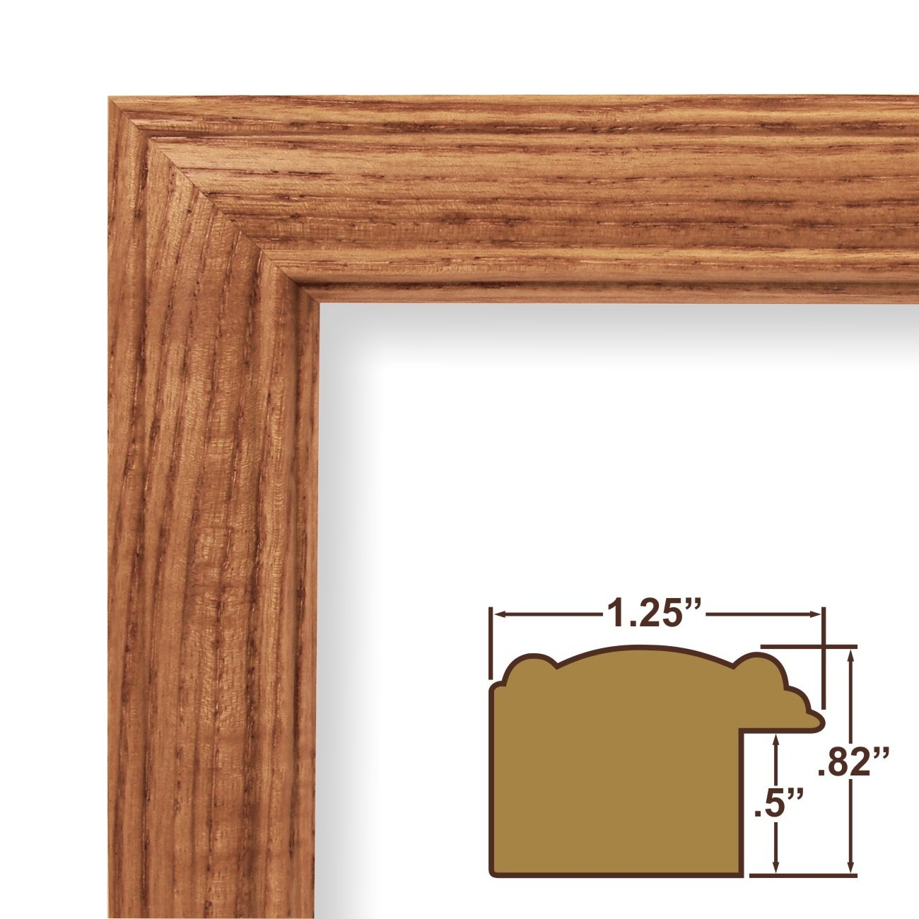 amazoncom 15x22 picture poster frame wood grain finish 125 wide honey oak 59504100