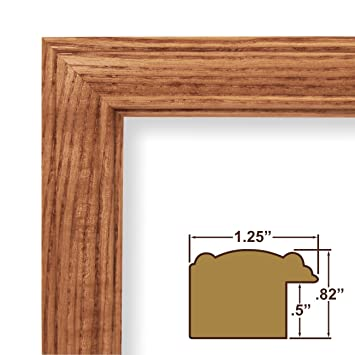 Amazon.com - 10x18 Picture / Poster Frame, Wood Grain Finish, 1.25 ...