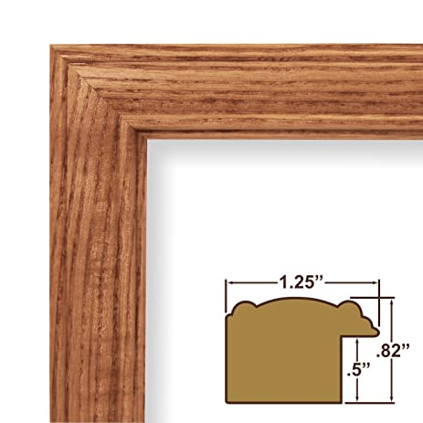 12x19 picture poster frame wood grain finish 125 wide honey oak - Wood Poster Frame