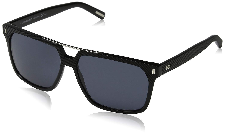 a446cf8e1c67 Amazon.com  Dior Homme 807 Black Black Tie 134S Square Aviator Sunglasses   Shoes