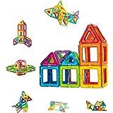 Condis 42 Piezas Bloques de Construcción Magnéticos para Niños Kit de Inicio, Juegos de Viaje Construcciones Magneticas…
