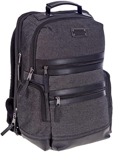 Renwick Treated Canvas Leather Business Backpack