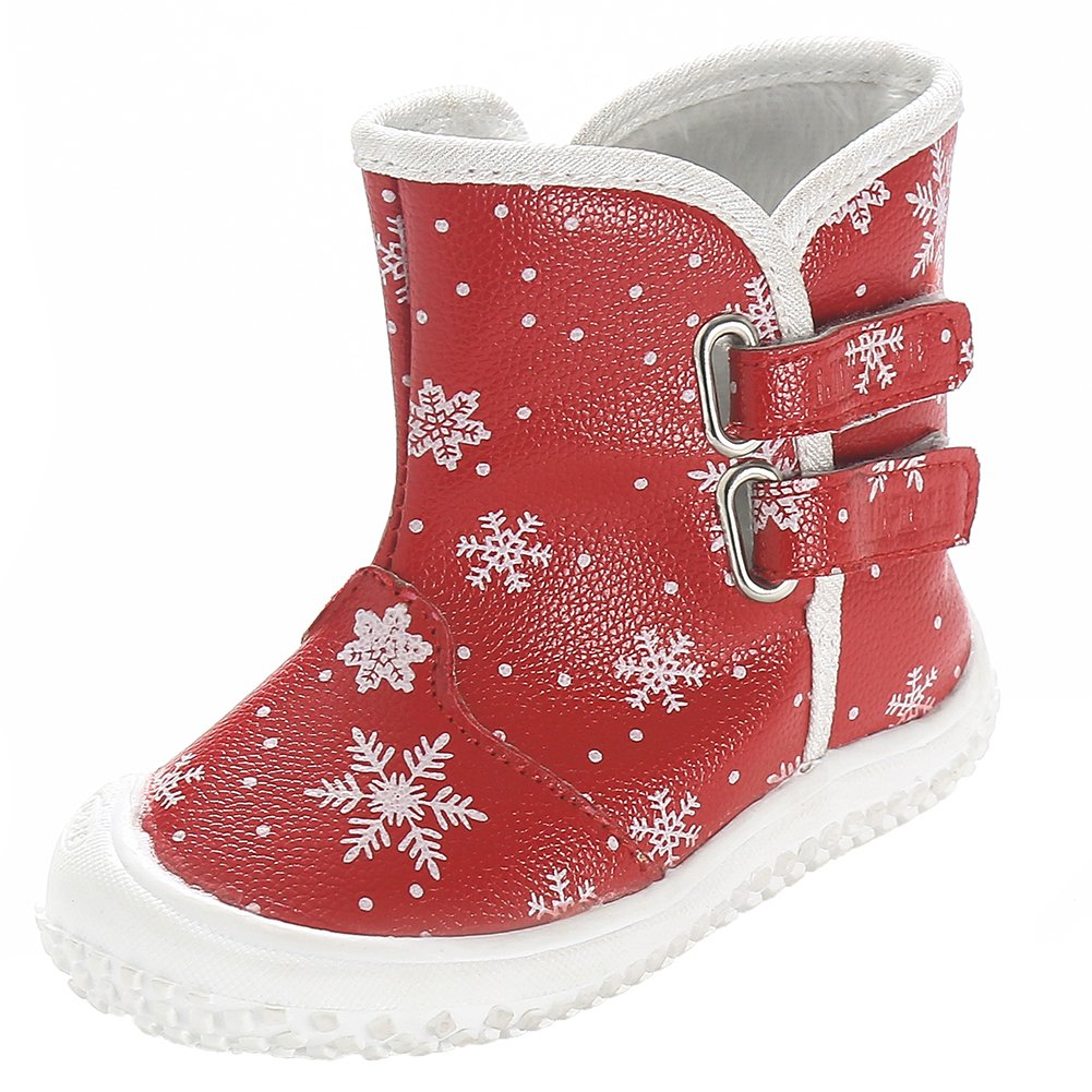 D.LIN Toddler Snow Boots Baby Boy & Girl Winter Discolor Shoes 1