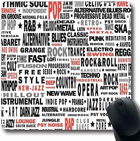 Luancrop Alfombrillas de ratón Cantar Género Musical Toda la ...