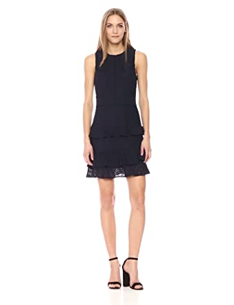 1cb9bb9b23ca Amazon.com: Adelyn Rae Women's Trixie Knit Ruffle Sheath Dress: Clothing