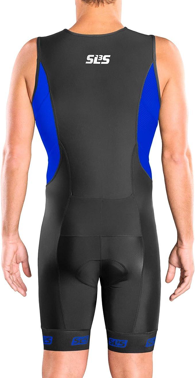 Men`s Tri Suit Designed by Athletes for Athletes Soft Chamois Trisuit FX Men Triathlon Suit 2 Pockets SLS3 Tri Suit Men