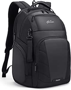 Fresion 43L Travel Laptop Backpack - Flight Approved Carry On Mens Backpack with USB Charging Port, 17 Inch Anti Theft Water Resistant Business Backpack for Men and Women