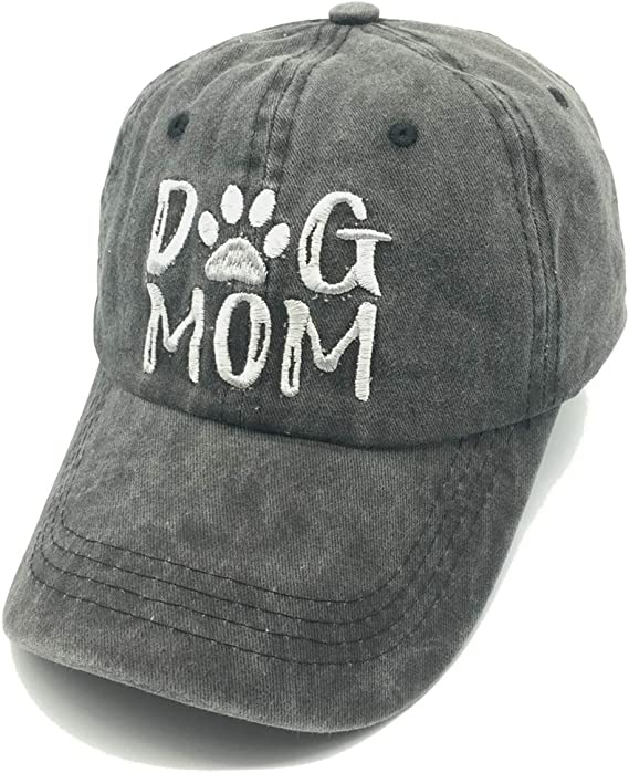 Australian Shepherd Dog Mom Love Paw Print Gift Women Girls Adult Dad Trucker Distressed Denim Hat Cap