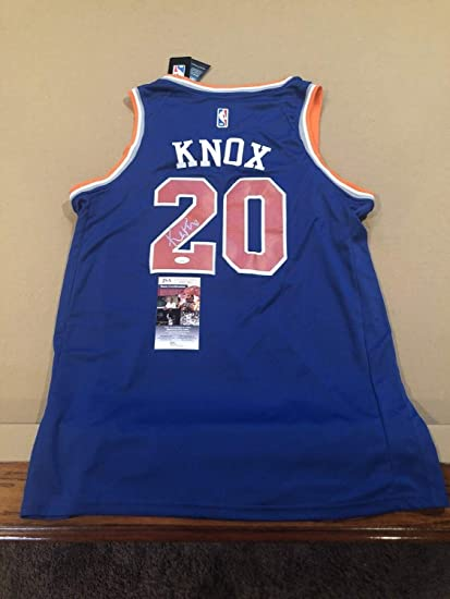 check out 397cb 2e972 Kevin Knox Autographed Signed Memorabilia Custom New York ...