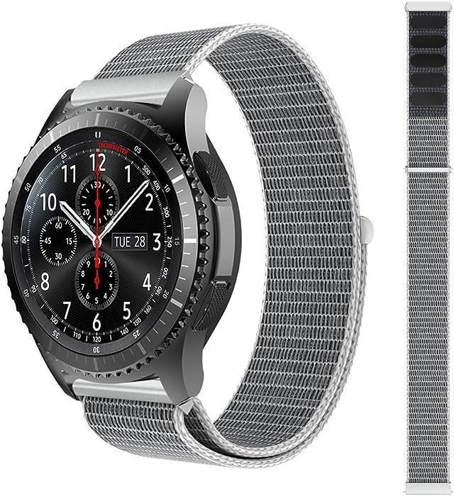 Correa de repuesto para reloj Samsung S3 Classic/Frontier HappyTop de nailon, estilo deportivo