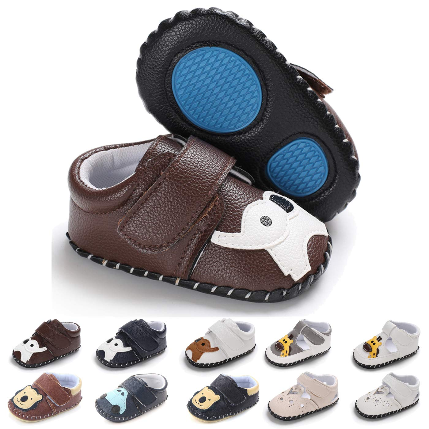 125d1680ff6f2 BEBARFER Baby Boys Girls Shoes Cartoon Crawling Slippers Soft Moccasins  Toddler Infant Crib Pre-Walkers First Walkers Shoes Sneakers