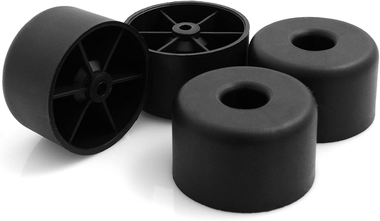 design61/Lot de 4/patins pour meubles meubles en plastique Soucoupe Canap/é Fauteuil /à visser plastique Patins pour Meubles B 70/x H 45/mm Noir