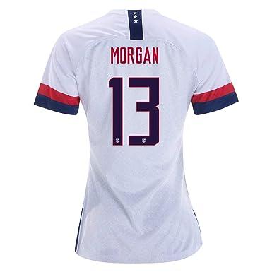 f8fd44732405e #13 Alex Morgan White Womens 2019 World Cup USA White Soccer Jersey (Runs  Small