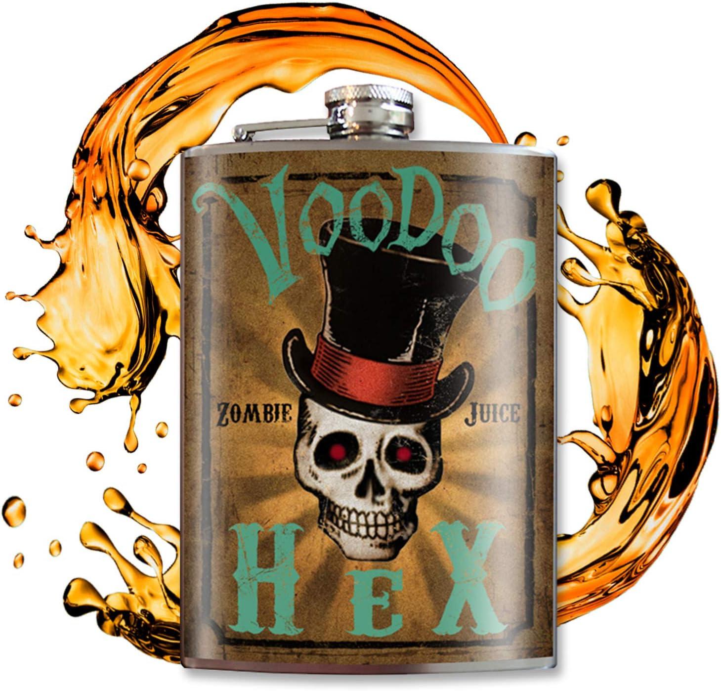 Voodoo Hex Flask Flasks For Liquor For Men Flasks For Liquor For Women Flask For Women Fun Gifts For Women Cool Gifts For Men