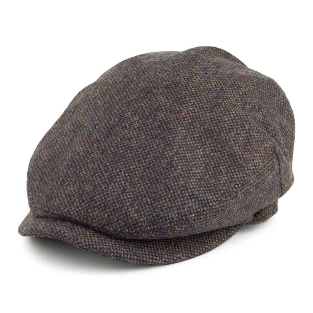 Joules Hats Croftbury Tweed Flat Cap - Forest