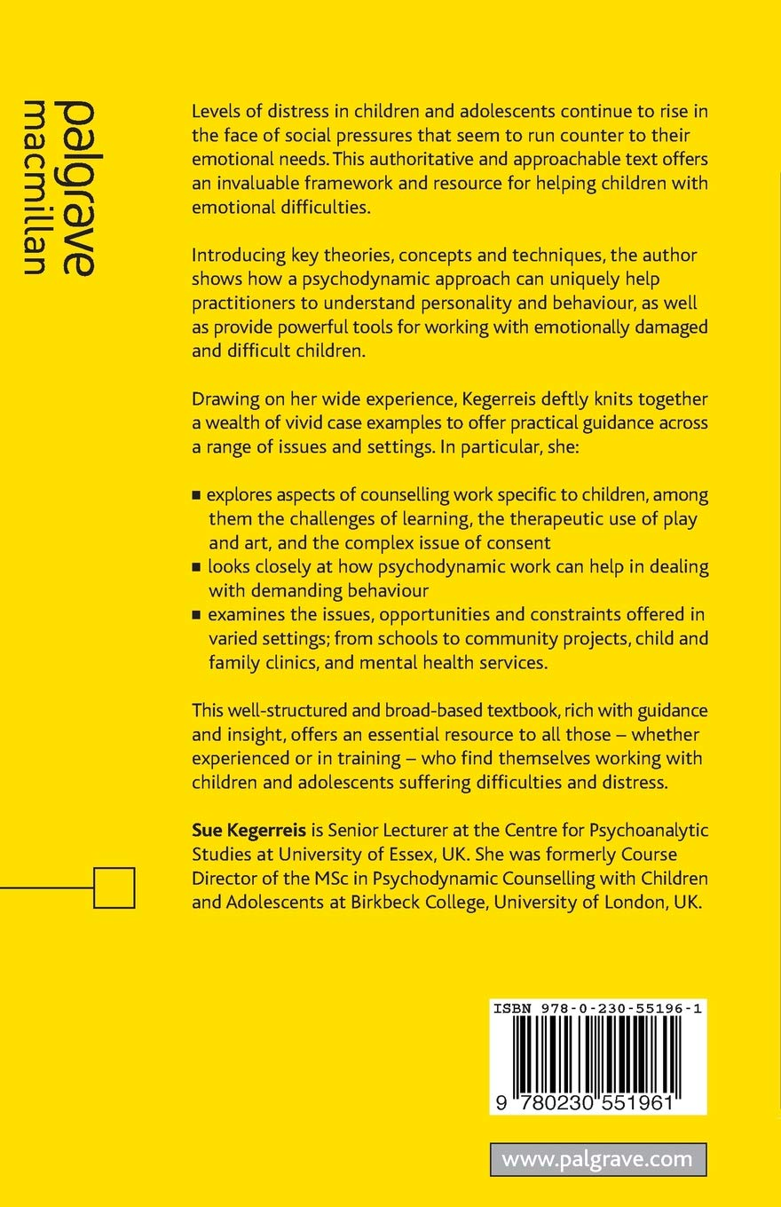 Psychodynamic Counselling with Children and Young People: An