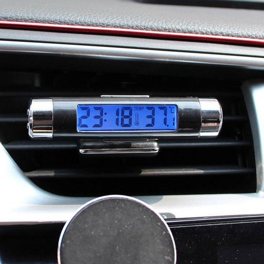 8,2 x 1,8 cm D DOLITY LCD Auto Innen und Au/ßen Thermometer Raumklimakontrolle