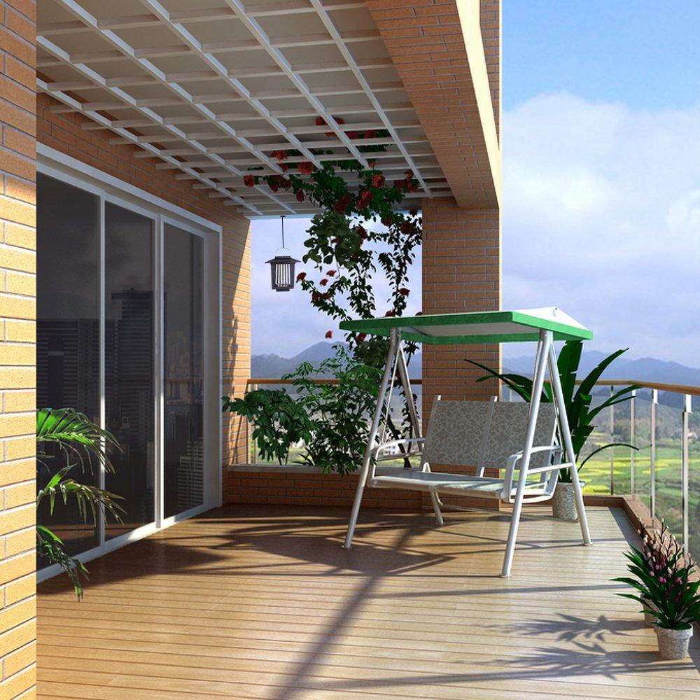 Solar mosquitos asesino ahorrador de energía impermeable - ELINKUME UV - Trampa para insectos LED negro iluminación al aire libre lámpara anti-moustique ...