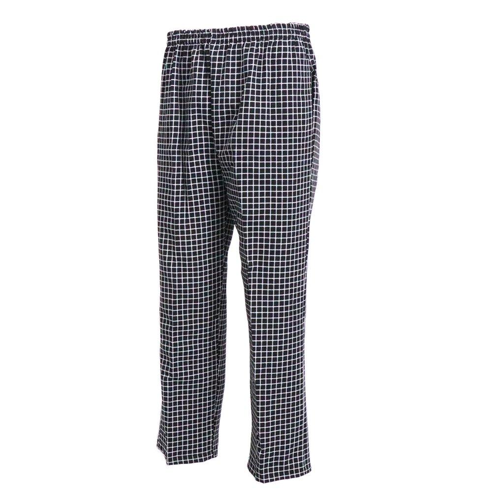 D DOLITY Unisex Chef Pants Hotel Restaurant Uniform Loose Chef Pants Fit Trousers