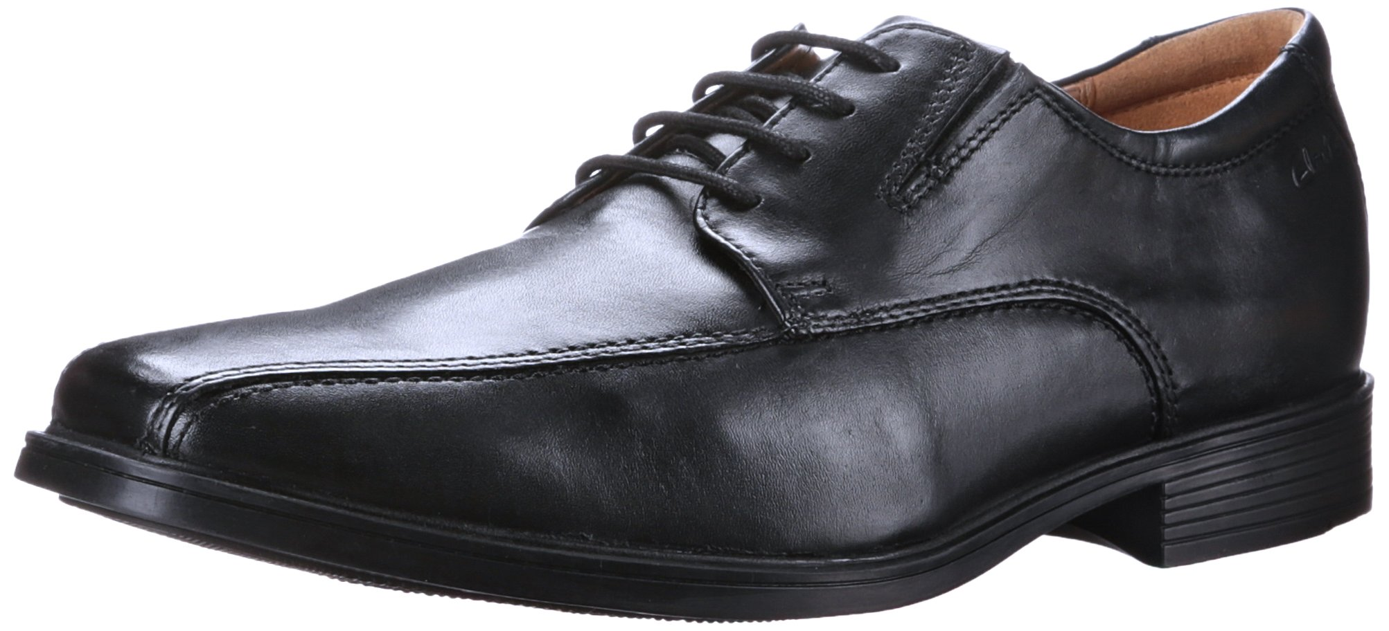CLARKS Men's Tilden Walk Oxford, Black Leather, 10 M US
