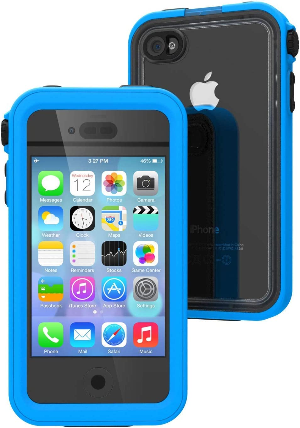 Catalyst Waterproof case for iPhone 4 / 4s, High Touch Sensitivity ID, Military Grade Drop and Shock Proof Premium Material Quality, Slim Design, Pacific Blue