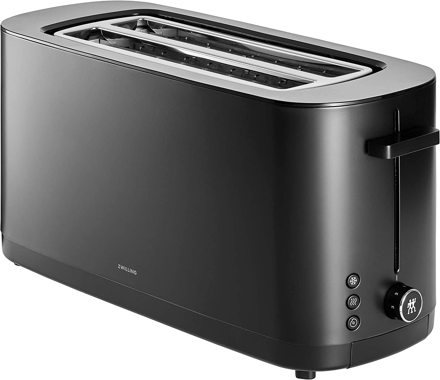 Zwilling Enfinigy Cool Touch 2 Long Slot Toaster, 4 Slices with Extra Wide 1.5