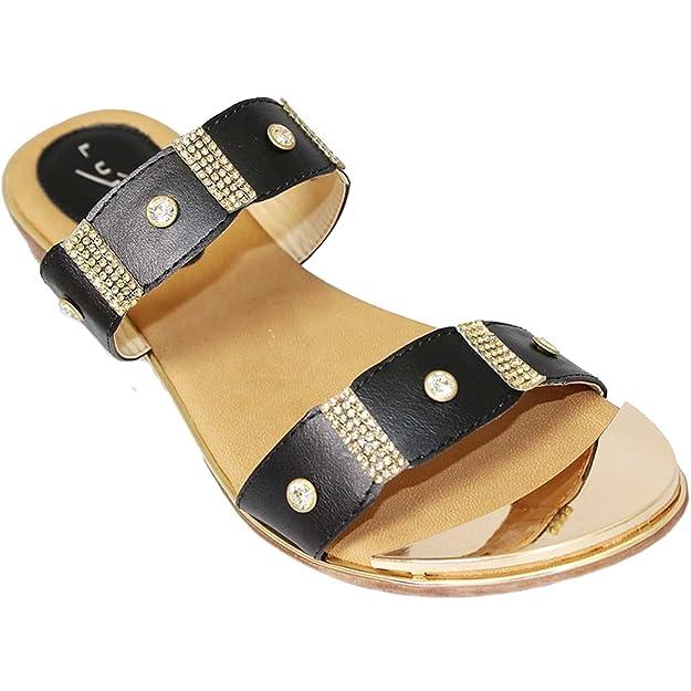 Fantasia Boutique jlh718 ESTA Damen Open Toe Goldüberzug Strass niedriger  Absatz Modische Sandalen: Amazon.de: Schuhe & Handtaschen