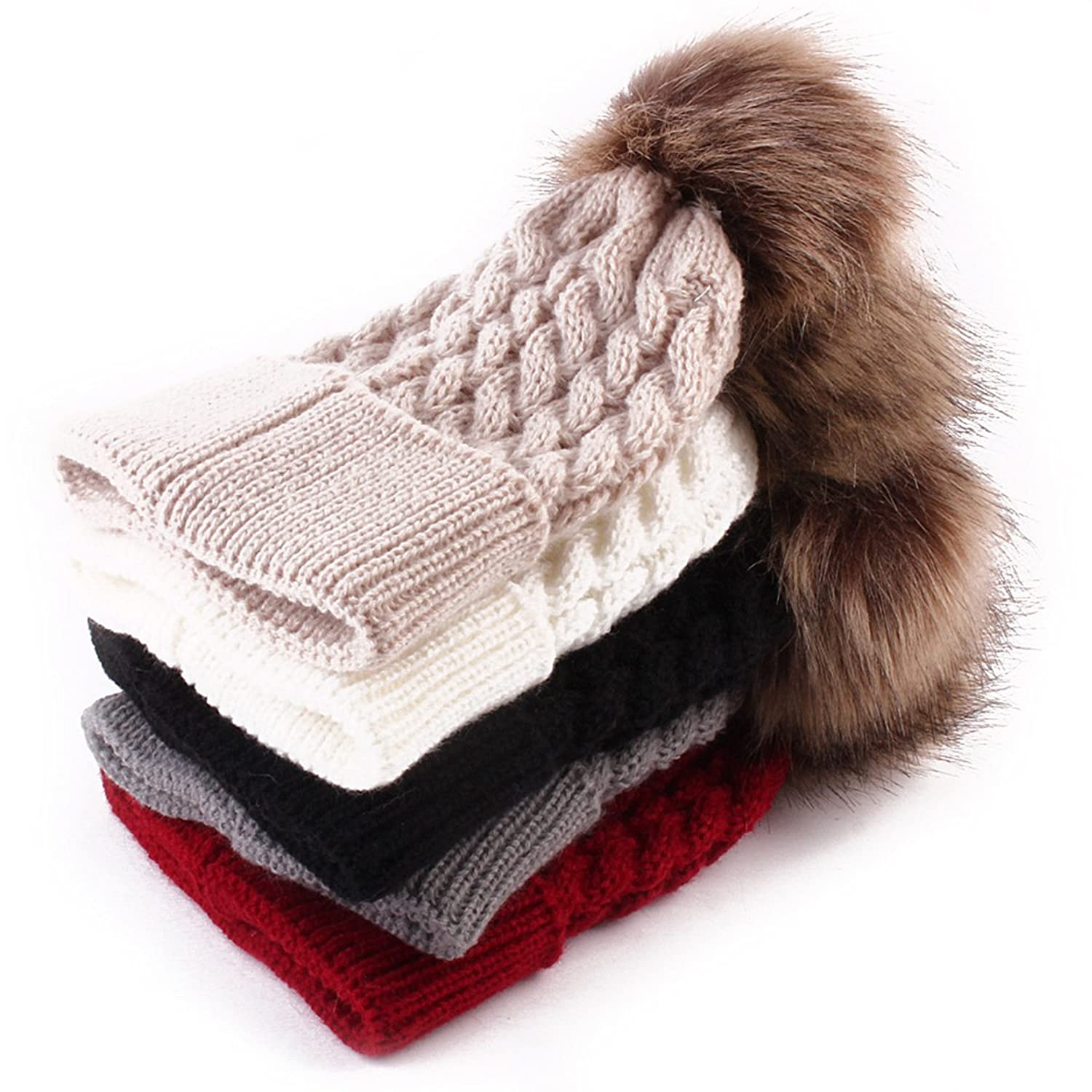 Amazon.com: oenbopo Baby Winter Warm Knit Hat Infant Toddler Kid ...