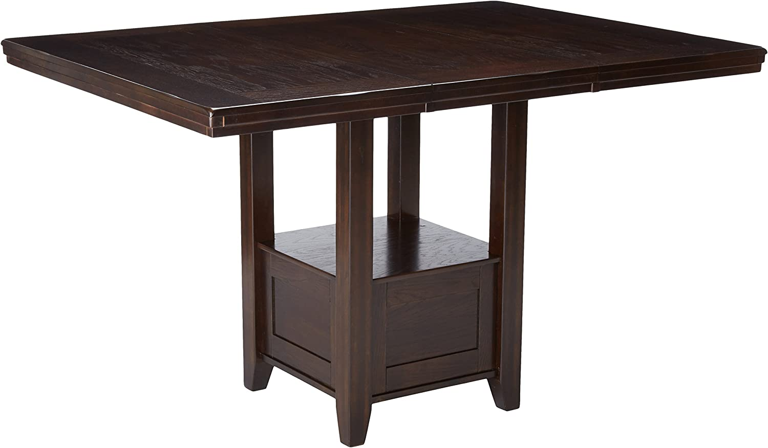 Signature Design By Ashley – Haddigan Rectangular Dining Room Counter Extention Table – Casual Style – Dark Brown