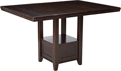 Signature Design by Ashley Haddigan Counter Height Dining Room Extension Table, Dark Brown