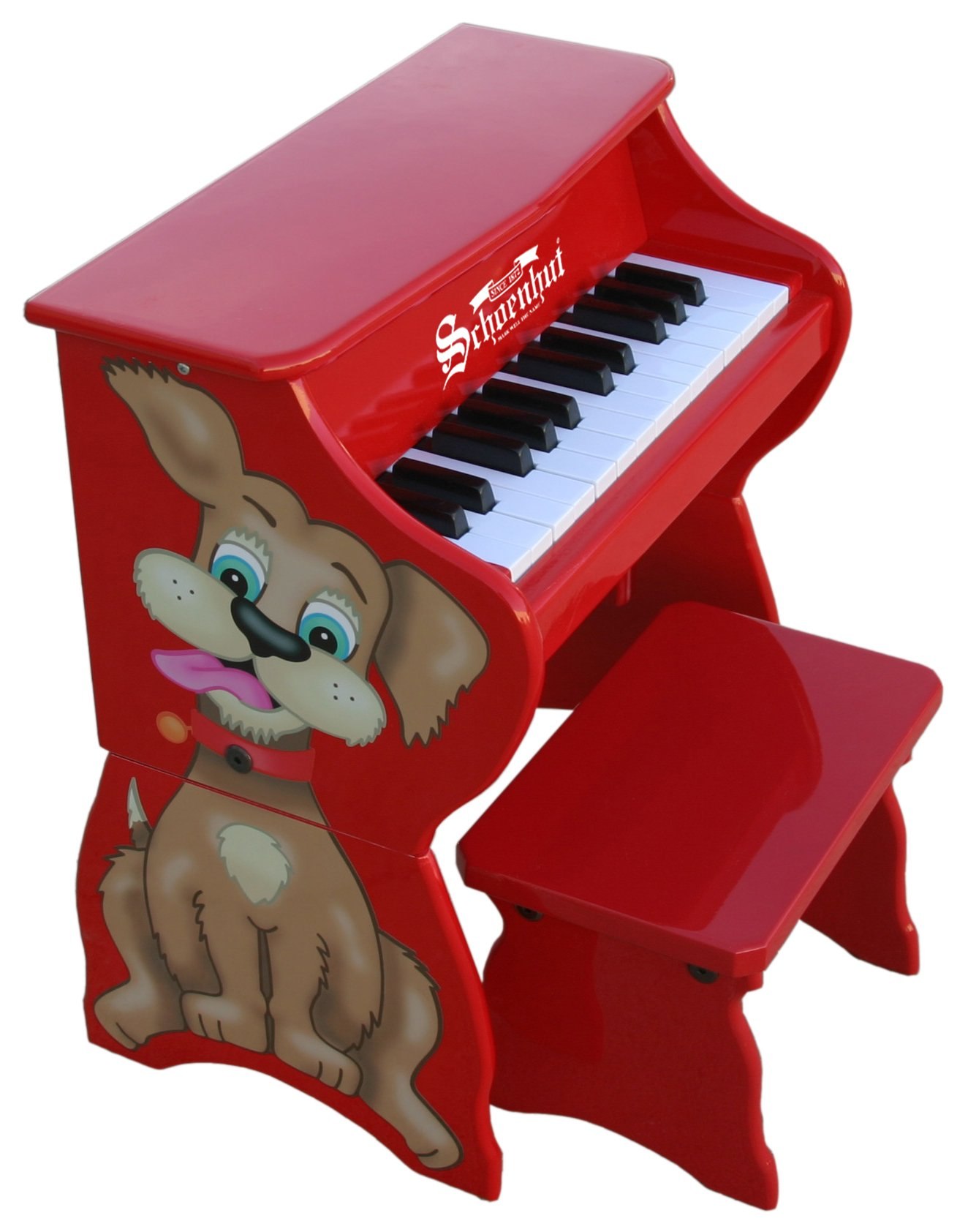 Schoenhut Learn-to-Play Toy Piano With 25-Keys and Patented Play-by-Color Tri-Play Learning System