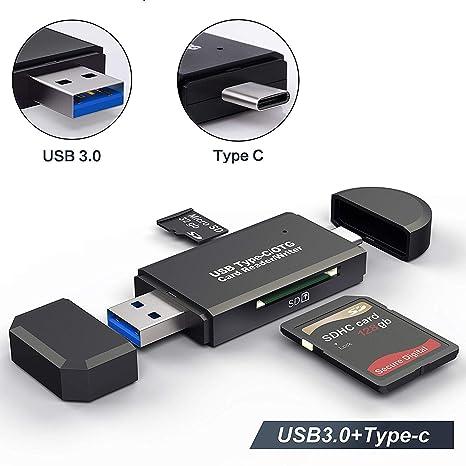 EXW USB C Type C OTG Adaptador lector de tarjetas para Micro ...