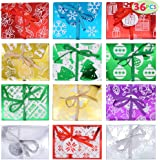 """36 PCs Christmas Fancy Gift Foil Decorative Wrapped Envelope Card Boxes with Ribbon Holder (4.5"""" x 3.25"""" x 0.4"""") for Envelope"""