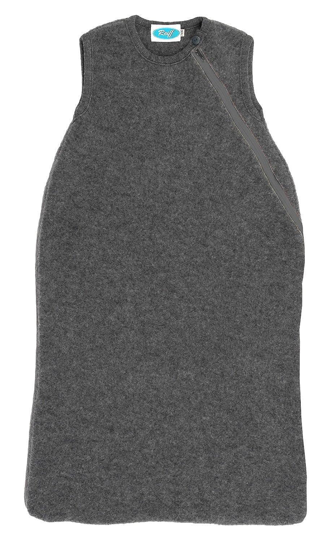 Winterschlafsack ohne Arm aus Merino-Schurwollstrick - Bio-Baumwollplüsch 74-80