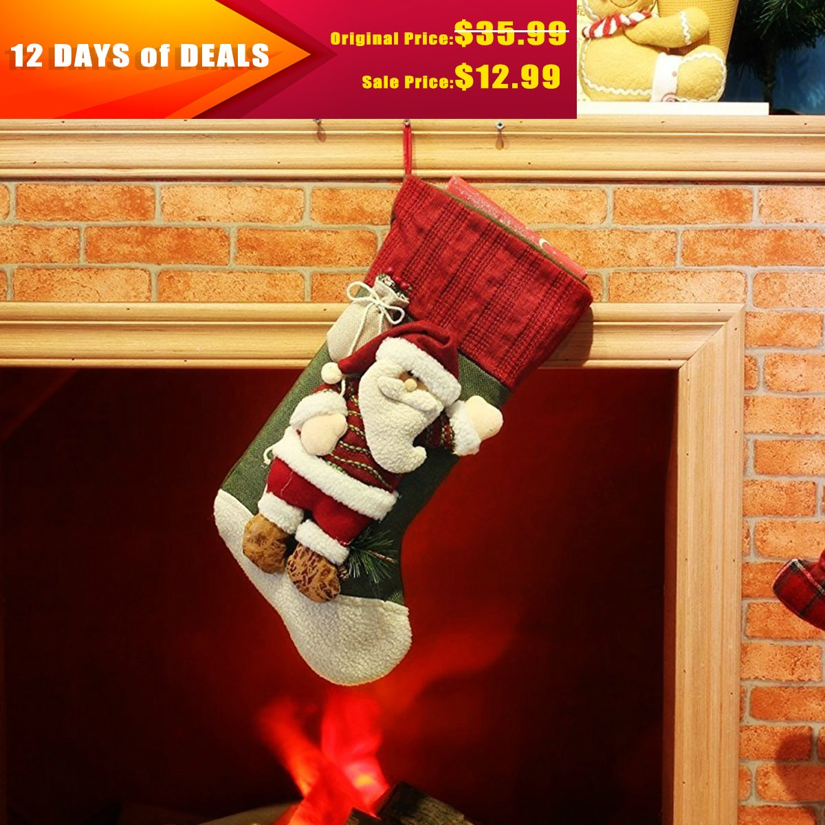 Cartoon Santa Claus Stocking