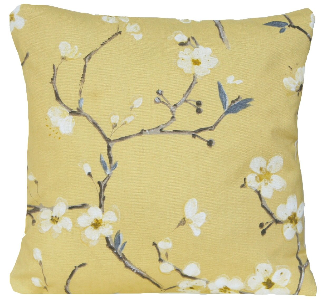 Yellow Flower Cushion Cover Floral Decorative Pillow Case Pattern ...