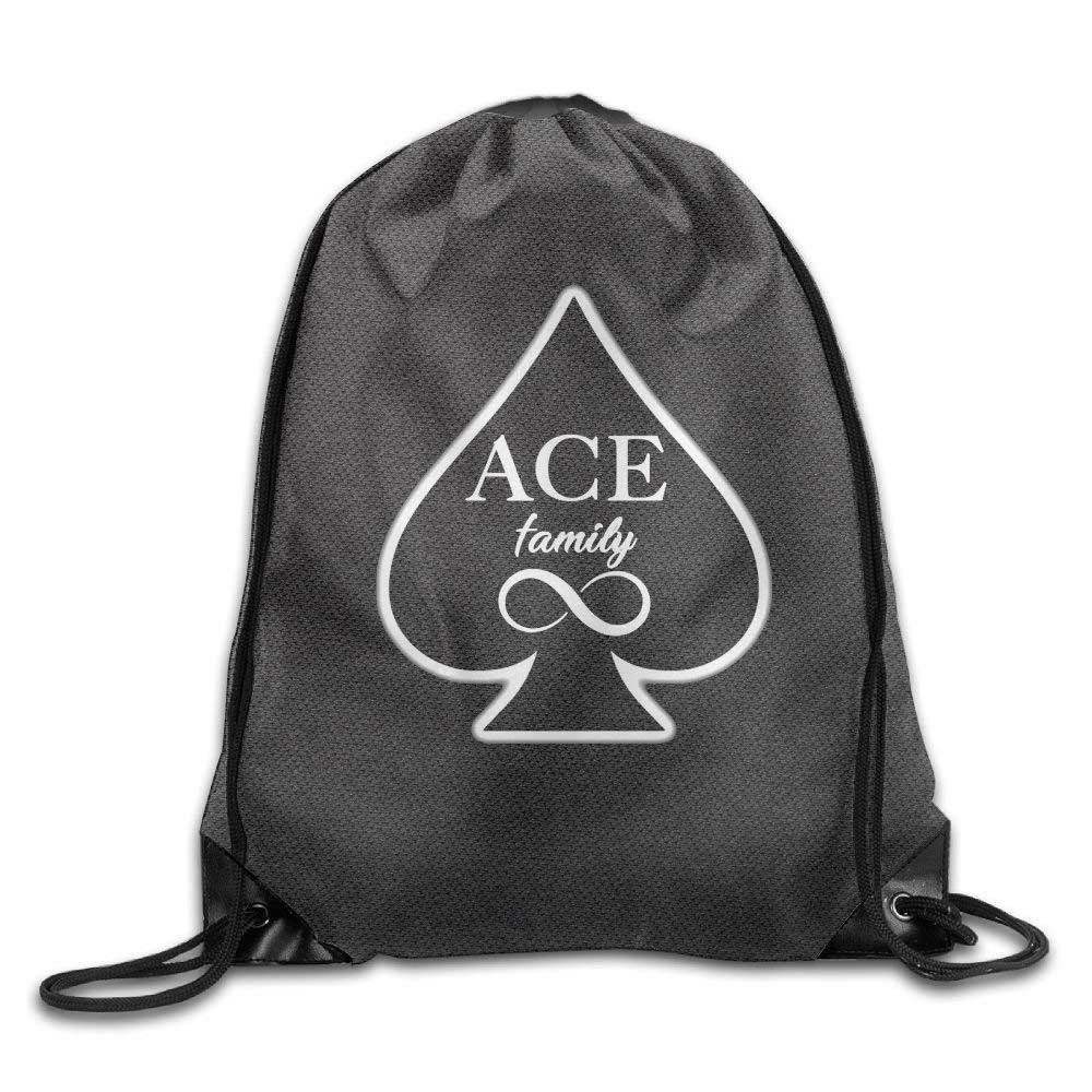Unisex The Ace Family Fashion Beam Mouth Backpack&drawstring Double Shoulder Bag Drawstring Travel Backpack For Men And Women