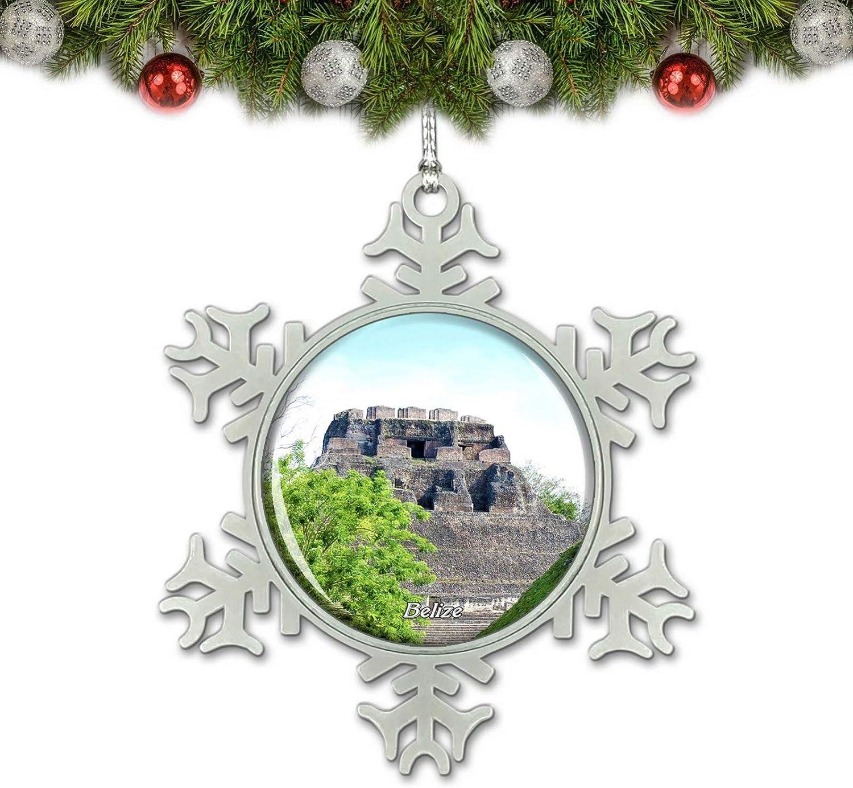 Umsufa Belize Caracol Mayan Ruins Cayo Christmas Ornament Tree Decoration Crystal Metal Souvenir Gift
