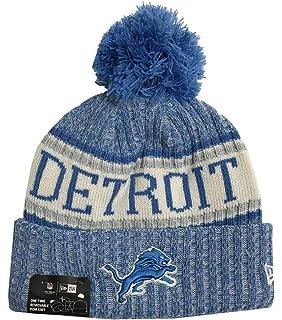 0fa460d81 Amazon.com : New Era Knit Detroit Lions Gray On Field Sideline Sport ...
