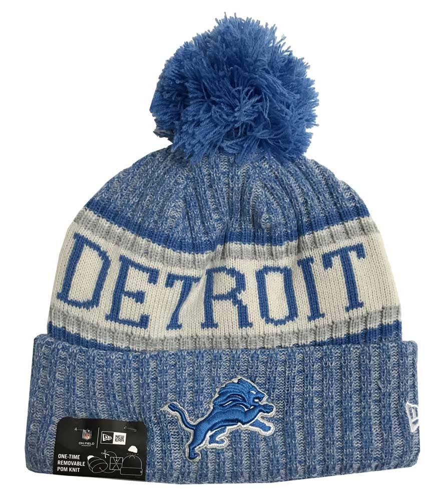 meet 8b075 c8d67 New Era Detroit Lions On Field 2018 Sport Knit Hat  Amazon.in  Garden    Outdoors