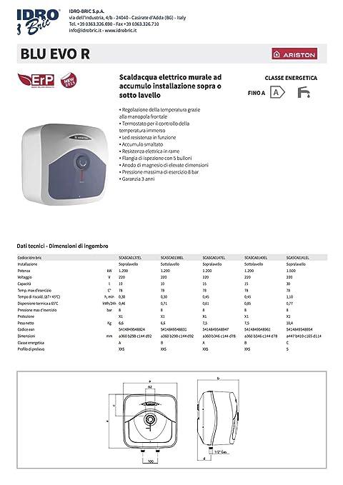 24 opinioni per Ariston 3100321 Scaldabagno Elettrico 30 Litri